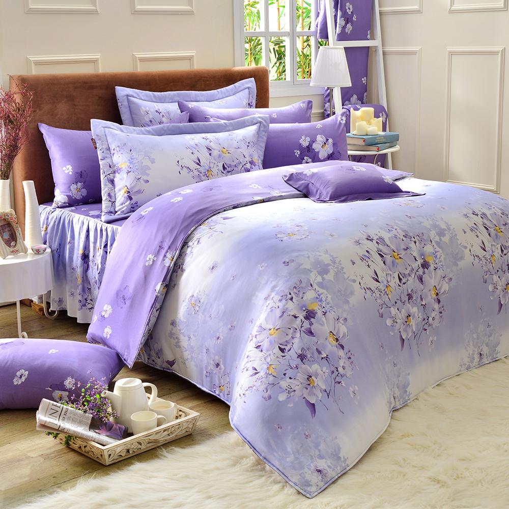 Saint Rose 馨香花顏 雙人100%純天絲兩用被套床罩八件組