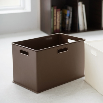 Home Feeling 塑膠收納盒LL-(2色)-38x26x24cm