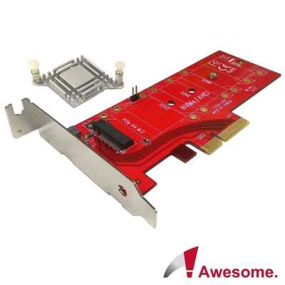 Awesome M.2高功率SSD轉PCIe3.0x4轉接卡-AWD-DT-129A