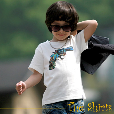 【The Shirts】西部牛仔手槍短袖T恤 (共二色)