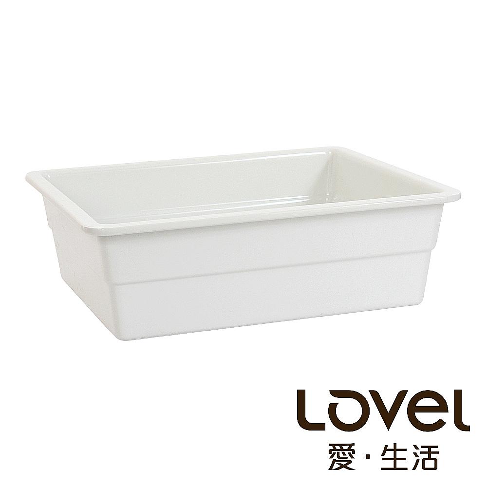LOVEL  象牙瓷白buffet餐盤(GN1/2 100mm)