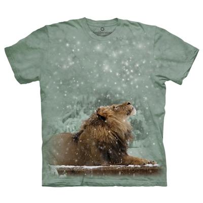 摩達客 美國進口The Mountain 雪中獅 純棉環保短袖T恤