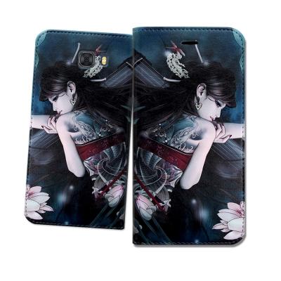 張小白授權 Samsung Galaxy C9 Pro 古典奇幻 插畫磁扣皮套(...