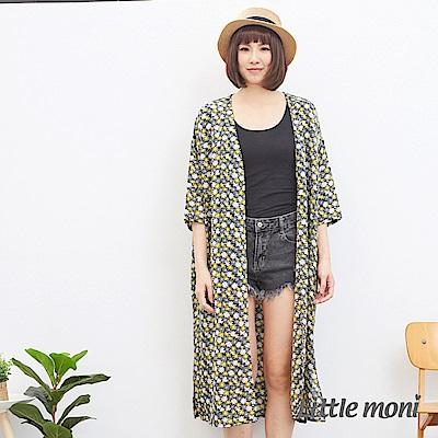 【麗嬰房】Little moni 親子花卉長版罩衫(大人)(2色可選)