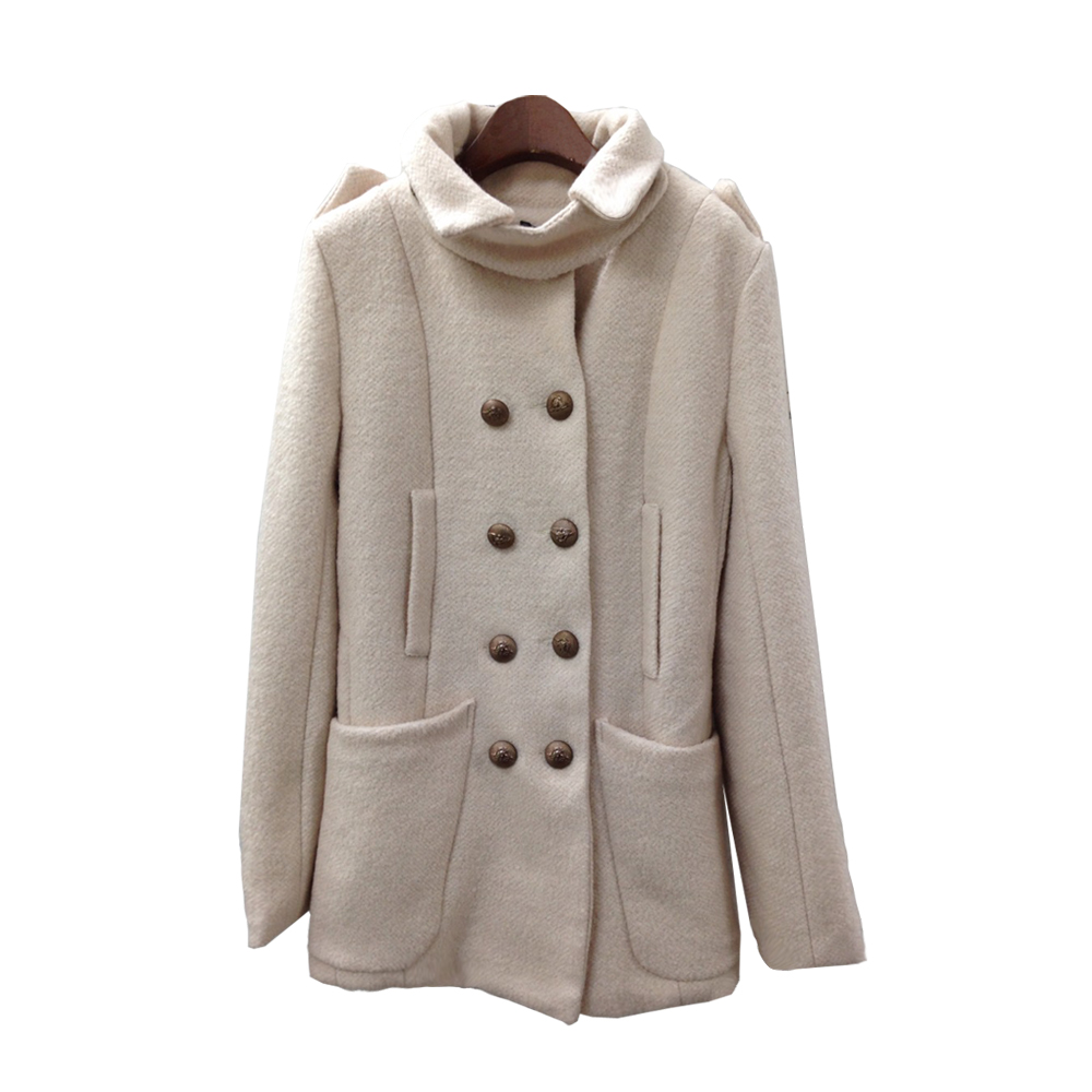 LOVE20東京館 - 甜美復古釦大衣外套