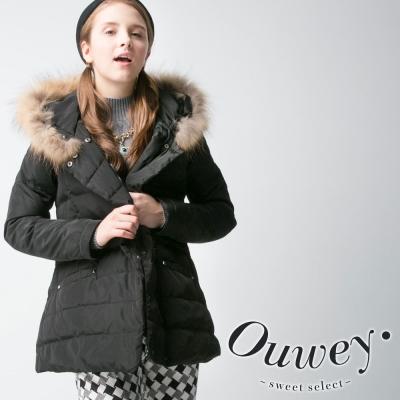 OUWEY歐薇-修身保暖羽絨外套