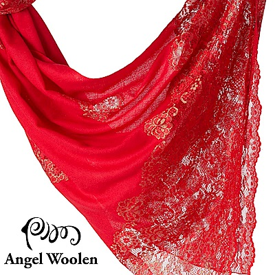 【ANGEL WOOLEN】印度手工法國蕾絲披肩圍巾(東方香調)