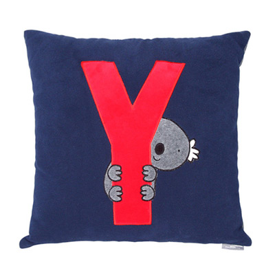 Yvonne Collection無尾熊45x45cm方形抱枕-丈青