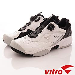 Vitro韓國專業運動品牌-DURNSFORD系列頂級專業網球鞋-黑白(男)