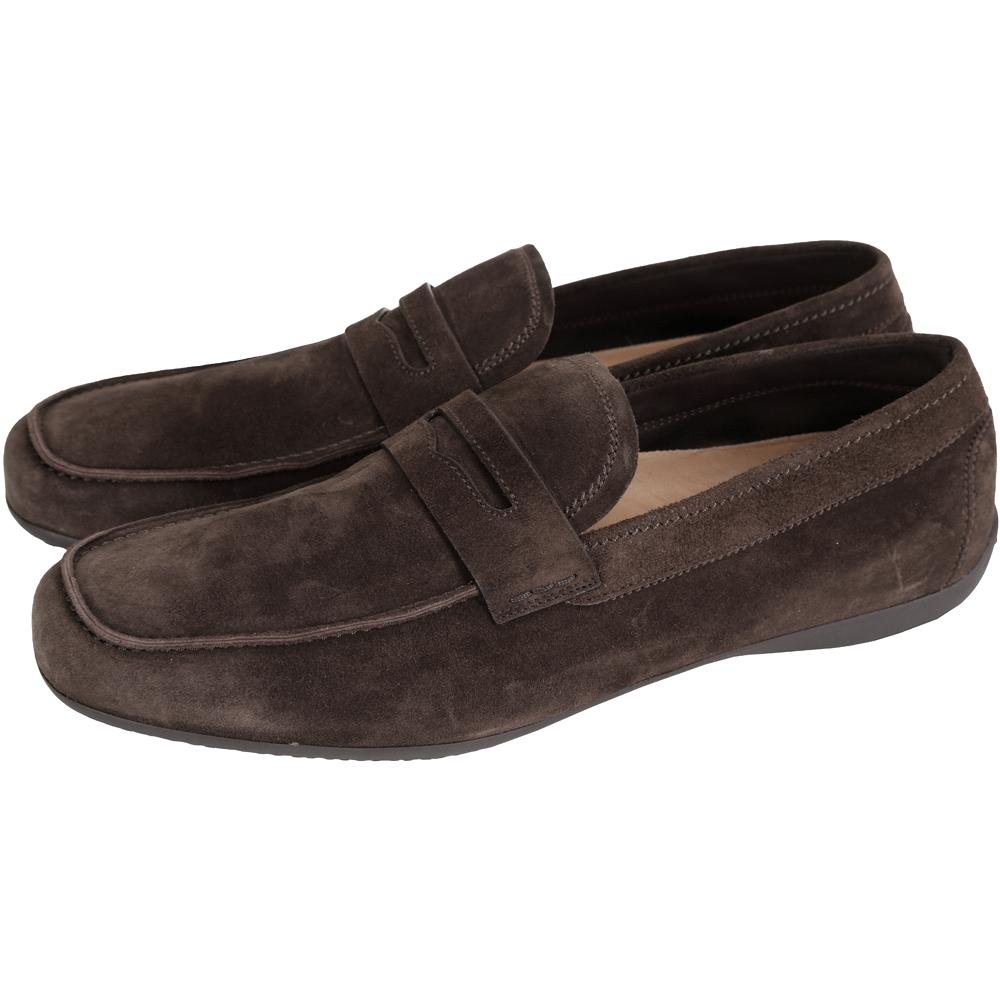 MORESCHI 仿舊麂皮樂褔鞋(男款/咖啡色)
