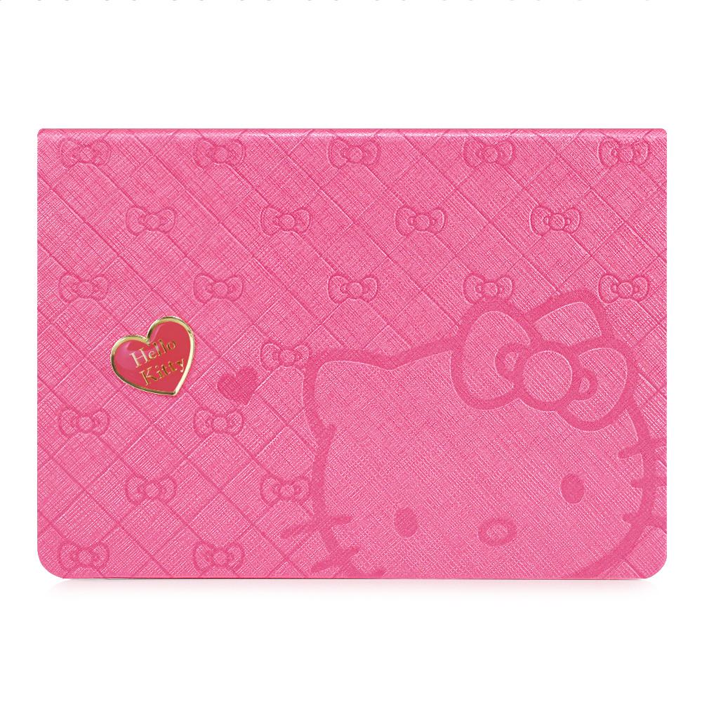 GARMMA Hello Kitty iPad Air 360度旋轉摺疊式皮套–心戀桃色