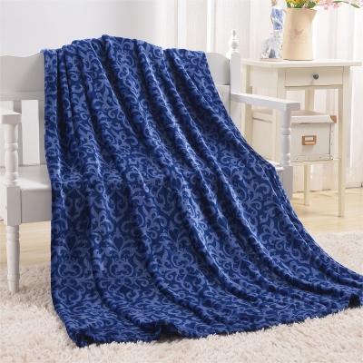 Grace Life 多用途法蘭絨隨意毯一入-藍( 150 × 180 ㎝)