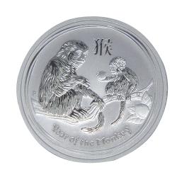 澳洲生肖紀念幣-澳洲2016猴年生肖銀幣(1/2盎司)