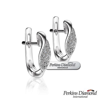 PERKINS 伯金仕 - infinity系列 14K金 0.09克拉鑽石耳環