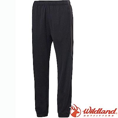 Wildland 荒野 0A61659-54黑 中性雙色透氣抗UV縮口褲