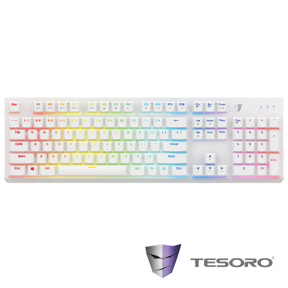 TESORO鐵修羅 剋龍劍Gram RGB機械式鍵盤-紅軸中文白