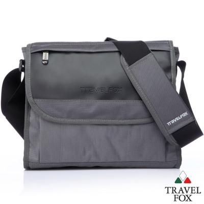Travel-Fox-旅狐歐格納鑽紋側背包-灰-TB599-13