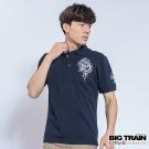 BIG TRAIN中大尺碼 加大濤浪家徽墨達人POLO衫-男-深藍