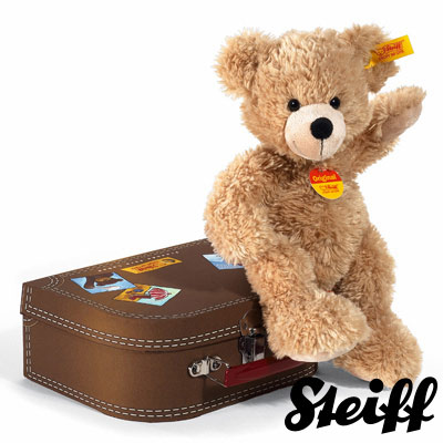 STEIFF德國金耳釦泰迪熊 - 行李箱熊 Fynn Teddy Bear (28cm)
