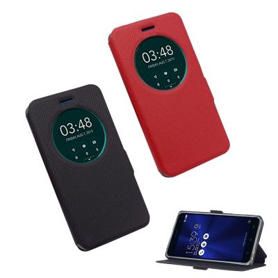 YANGYI 揚邑 ASUS Zenfone 3/5.5吋 星光開窗智能休眠磁扣皮套