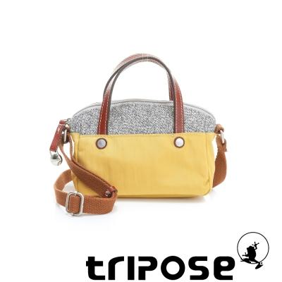 tripose 漫遊系列岩紋玩色兩用手提背包(小) 黃