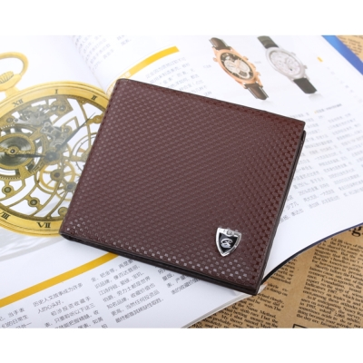 JINBAOLAI  GT1715BR韓版圓紋造型皮夾咖啡色