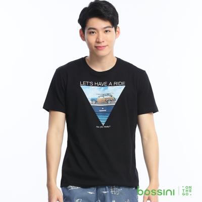 bossini男裝-印花短袖T恤54黑