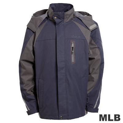 MLB-華盛頓國民隊立領可拆帽風衣外套-深藍(男)