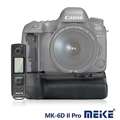 Meike 美科 Canon 6D II Pro 垂直手把(附遙控器) BG-E...