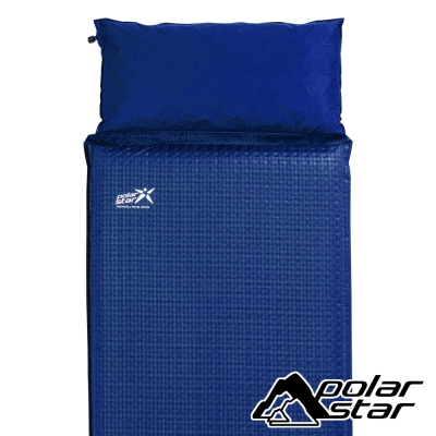PolarStar 自動充氣睡墊-附枕頭『藍』P16733