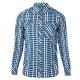 【Berghaus 貝豪斯】男款銀離子抗UV長袖襯衫S05M02-藍 product thumbnail 1