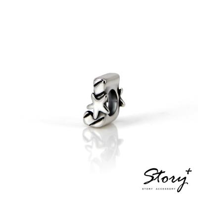 STORY故事銀飾-串珠墜飾-字母珠 J