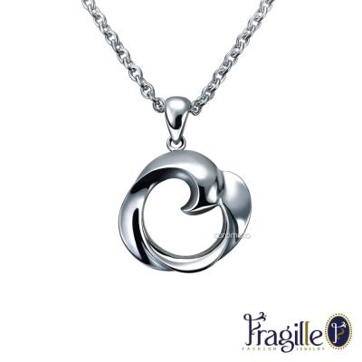 彩糖鑽工坊 Rose 玫瑰銀項鍊 Fragille 系列