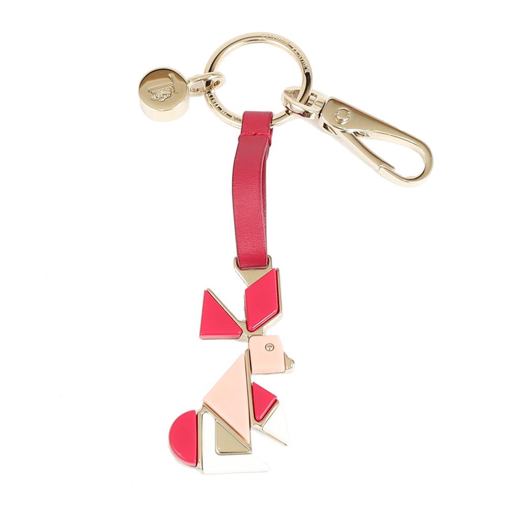 TOD`S 拼色造型兔鑰匙圈(紅色)