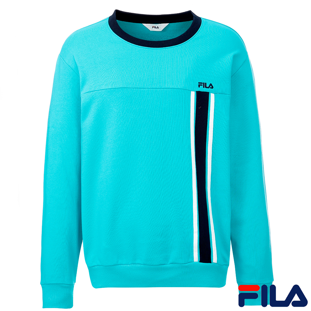 FILA男圓領T恤(水藍)1TEQ-5507-TQ