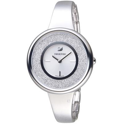 施華洛世奇SWAROVSKI Crystalline系列璀璨耀眼魅力腕錶-銀色/34mm