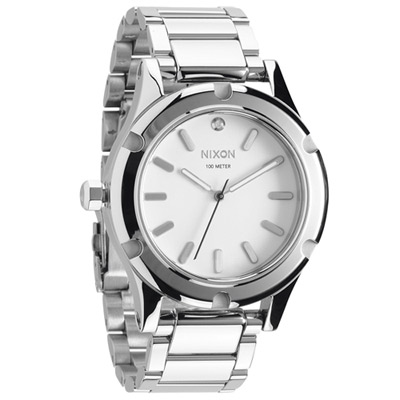 NIXON The CAMDEN 耀星光彩時尚腕錶-銀/ 41 mm