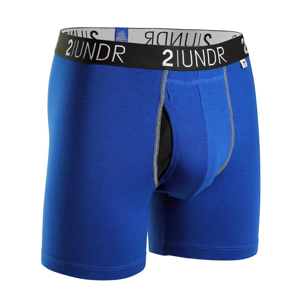 2UNDR Swing Shift 莫代爾吸排四角內褲(6吋)-藍色