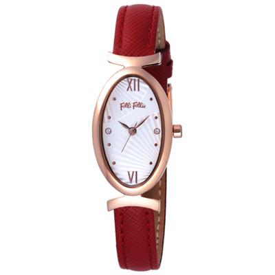 Folli Follie 典獻交會時尚腕錶-WF16R031SSS-RE/19X32mm