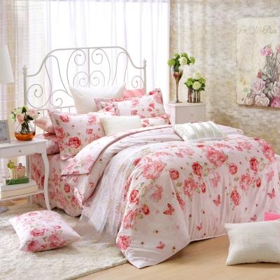 MONTAGUT-美滿花雨-200織紗精梳棉-七件式鋪棉床罩組(加大)