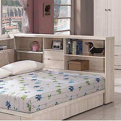 品家居 比利時7尺木紋床邊收納櫃-24x212x107cm免組