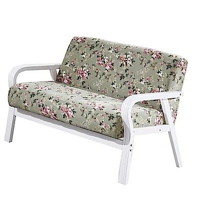 品家居 華莉安亞麻布實木沙發雙人座-112x60x75cm免組