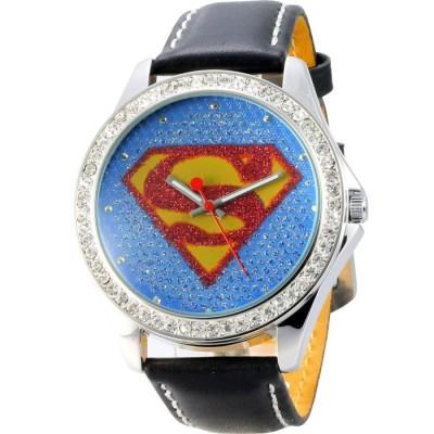 MARIN 趣味童玩超人標誌晶鑚腕錶-紅藍/43mm