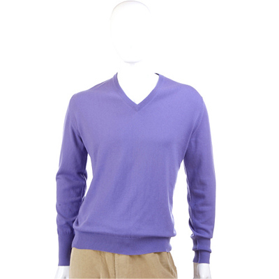 BALLANTYNE 紫色V領針織長袖上衣