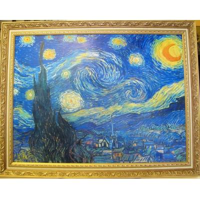 《星月夜 星空》 梵谷Starry,starry night(大幅)
