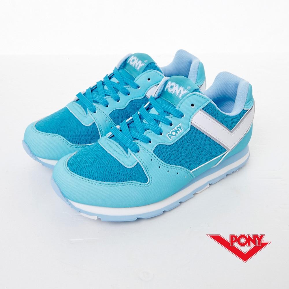 PONY-SOLA-V-季節限定色慢跑鞋-粉藍(女)