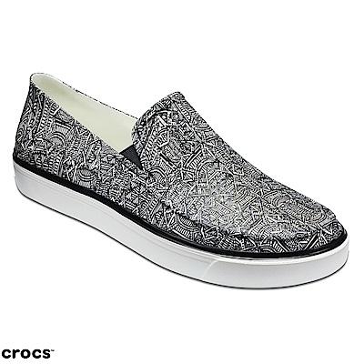 Crocs 卡駱馳 (男鞋) 都會街頭洛卡花紋便鞋 204966-066