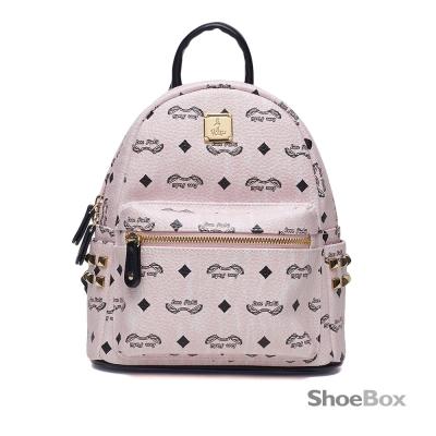 鞋櫃ShoeBox-女包-後背包-印花圖案小型後背包-粉