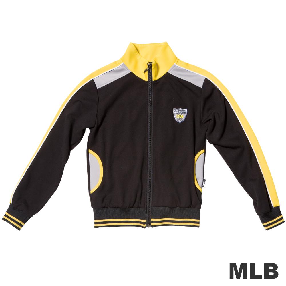MLB-洛杉磯道奇隊撞色立領休閒外套-黑男童