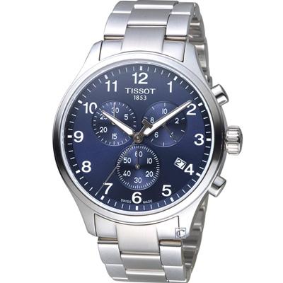 TISSOT 韻馳系列經典計時腕錶(T1166171104701)藍/45mm
